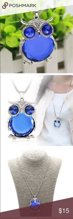 🦉 owl necklace NEW . Women silver owl 🦉 pendant necklace Jewelry Necklaces