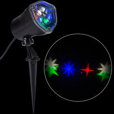 LED Projection-Whirl-a-Motion-Stars Rgbw Stake Light