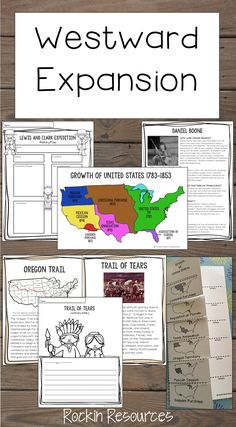 Westward Expansion unit loaded with informational text, reading comprehension, maps, charts, writing, projects, test, and more!  It covers Land Purchases, Four Western Trails, Daniel Boone, Lewis and Clark, Sacagawea, Seminole Wars, Indian Removal Act, Trail of Tears, Battle of the Alamo, Manifest Destiny, Oregon Fever, Gold Rush, Mormons, Pony Express, Telegraph, Pacific Railroad Act, and more!
