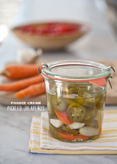 Pickled Jalapeños from foodiecrush.com