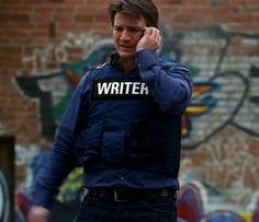 I want a bullet-proof writer vest! Bullet-proof writer vest by bonniegrrl, via Flickr