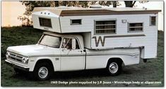 1969 winnebago pick up camper