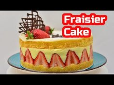 Mary Berry's Fraisier Cake is the ninth technical challenge in The Great British Bake Off (GBBO) Season An incredibly pretty French cake filled with delic. Genoise Sponge Cake Recipe, Sponge Cake Recipes, Food Cakes, Cupcake Cakes, Cupcakes, Bbc Recipes, British Baking Show Recipes, Delicious Desserts, Kuchen