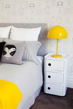 Incredible Kids Room Design In White And Yellow Colors | Kidsomania