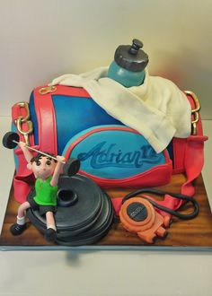 38550 SPORTS BAG CREATIVE CAKE ART SPORTS CAKE FIG | Flickr