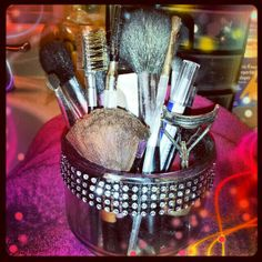 My D.I.Y. Makeup brush holder :)