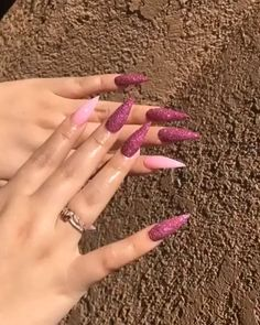 How to choose your fake nails? - My Nails Aycrlic Nails, Dope Nails, Bling Nails, Fun Nails, Nagel Bling, Stiletto Nail Art, Best Acrylic Nails, Dream Nails, Nail Swag