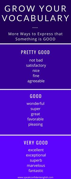"Grow your vocabulary in English and learn these synonyms for the word ""good."""