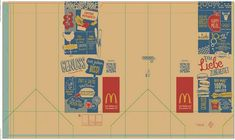 Doll Printies   Fast Food Box Template Printable, Food Template, Barbie Food, Doll Food, Big Mac, Happy Meal Box, Bakery Packaging, Mini Things, Mini Foods