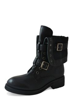 I Wild Timberly Diva 119 Chain Combat BlackThings Boots Ajc4LS53Rq