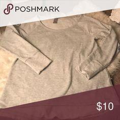 Long grey sweatshirt Super cute with vest! Champion Tops Sweatshirts & Hoodies