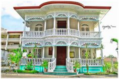 'Ancestral House, Carcar' by SG-litratista! Filipino Architecture, Philippine Architecture, Tropical House Design, Tropical Houses, Filipino House, Philippine Houses, Bamboo House, Spanish House, Good House