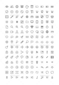 Set of 150 universal thin line icons for various projects. Included high resolution PNG, JPG and vector EPS and Ai files with edit