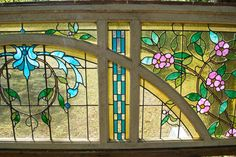 Neo-Classical Stained Glass Hall Entrance Architectural Materials, Stained Glass, Entrance, Architecture, Home Decor, Arquitetura, Entryway, Decoration Home, Room Decor