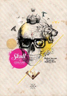 Skulls // Design Art Collection // Credeal™ notebooks on Behance