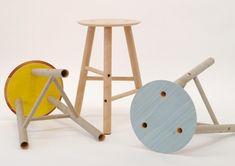 Seongyong Lee, stool made out of cardboard packaging tubes Cardboard Chair, Cardboard Tubes, Cardboard Furniture, Wood Veneer Sheets, Tube Carton, Cardboard Packaging, Sustainable Furniture, Take A Seat, Furniture Inspiration
