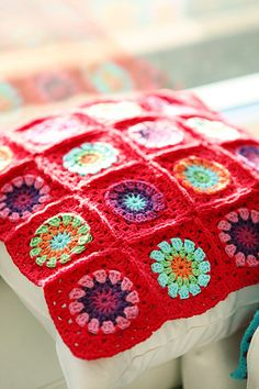 Colorful crochet-Love Red