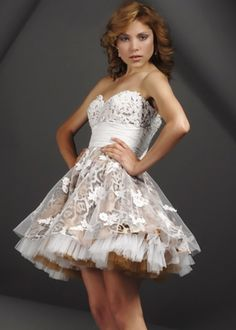 Wild animal print homecoming dress with lace embroidery, 154326