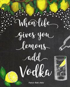 chalkboard art, chalk, lemons, vodka, grey goose, ciroc, smirnoff, lemonade