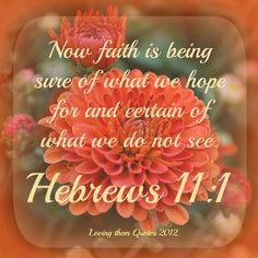 Stay in faith.