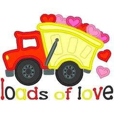 Loads of Love Applique - 3 Sizes! | Valentine Applique Machine Embroidery | Machine Embroidery Designs | SWAKembroidery.com
