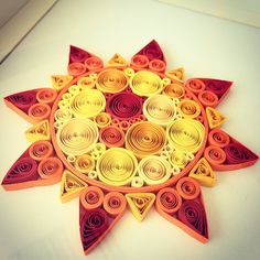 Quilled sun