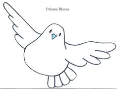Imagenes de palomas para dibujar faciles - Imagui Peace Crafts, Chicken Bird, Mandala Doodle, Paper Birds, Sketchbook Drawings, Bottle Cap Images, First Holy Communion, Easy Watercolor, Baby Crafts