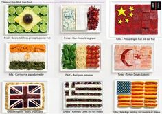 When introducing a new region, this would be a great idea to bring in for the kids. It includes popular ingredients and delicacies of different places. Furthermore, everything is made into each countries flag!