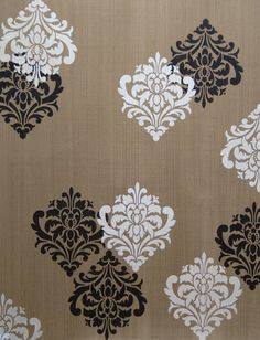 Stencil a single design for elegant wall art or repeat for an allover wallpaper effect. The Ornamental Flower Wall Stencil makes walls bloom with painting possibilities! Stencil Pattern Size: x Sheet Size: x Layer DesignSKU Damask Decor, Stencil Decor, Wall Stencil Patterns, Stencil Painting On Walls, Damask Stencil, Stencil Designs, Stenciling, Damask Wall, Diy Rustic Decor