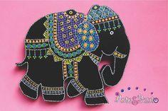 www.facebook.com/arteypuntoenvigado  #puntillismo - #dotpaint - #puntos - #elefantes - #arteypunto
