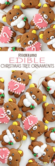 These cookies not only taste delicious, but can be hung onto your Christmas tree as decorations!