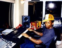 Pharrell during N*E*R*D's 2002 In Search of… US tour – as well as hundreds of boundary-pushing productions for the likes of Jay-Z, Kelis, Clipse and Justin Timberlake, he went on to enjoy a successful solo career