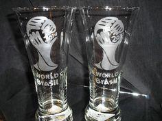 2014 FIFA WORLD CUP BRAZIL LOGO 19 OZ PILSNER GLASSES NEW    eBay