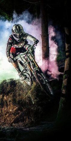 Steam rising: Sam Dale attacks a rock drop.