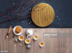 Flat lay conceptual mid-autumn festival food and drink, moon cake and. Chinese Cake, Chinese Theme, Chinese Design, Cake Photography, Moon Cake, Mid Autumn Festival, Food Festival, Tupperware, Food Design