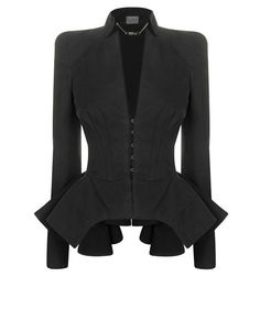 Cute with a pair of skinny jeans and heels, maybe no to the peplum though...