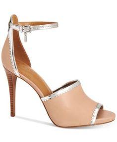 COACH Jordan Ankle-Strap Sandals | macys.com
