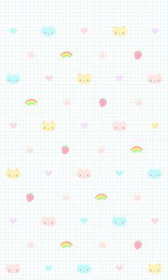 iPhone壁纸 萌物 可爱 背景 套图 韩系 平铺 ╯з ︶ღ 麽麽