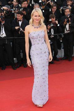 Naomi Watts in Armani Privé, Giuseppe Zanotti heels and Bulgari jewels