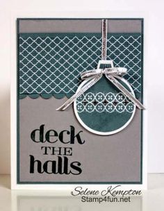 Stampin' Up Ornament Keepsake & Christmas Messages, Deck the Halls, Lost Lagoon