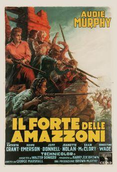 VINTAGE MOVIE POSTER -  Italian Movie Poster - Audie Murphy Poster, 1940's Retro Poster, Retro  Movi
