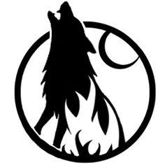 Wolf Silhouette Stencil