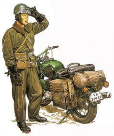 Soldado motociclista de la RDA