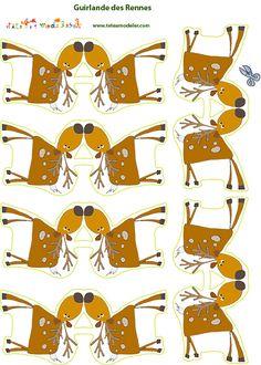 FREE printable reindeer deer garland for kids!