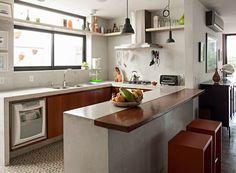 arquiteto Carlos Vianna - cozinha - concreto (Foto: Gui Morelli/Editora Globo)