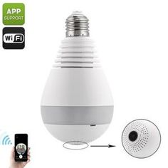 360-DEGREE IP CAMERA LIGHT BULB ----Intergraded within this LED light bulb, you'll find a high-end 360-degree IP camera. This security gadget is able to light up your room while simultaneously keeping an eye on all what's happening in its surroundings. With a 360-degree fisheye view, not a single corner in your home or office will stay out of reach for this IP camera. Thanks to its night vision capabilities, this IP camera keeps your property fully protected at both day and night.