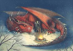 Who cares about snow and cold when you have a dragon with you? (Commission I did for ) Murtagh and Thorn Fantasy Dragon, Dragon Art, Red Dragon, Magical Creatures, Fantasy Creatures, Fantasy World, Fantasy Art, Eragon Saphira, Murtagh Eragon