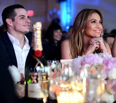 Jennifer Lopez and Casper Smart attended Celebrity Fight Night in Phoenix, Arizona on March 23, where the Moet & Chandon champagne was flowing as celebrities toasted the guest of honor, Muhammad Ali.