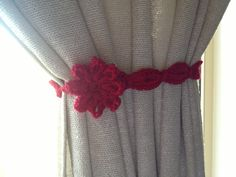 Crochet curtain tie. Crochet Curtains, Curtain Ties, Crafting, Home Decor, Cortinas Crochet, Diy Curtain Holdbacks, Room Decor, Craft, Crafts