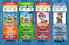 PERSONALIZED - PAW PATROL Party Invitation Admission Ticket - Printable-Emailable-Fast diY